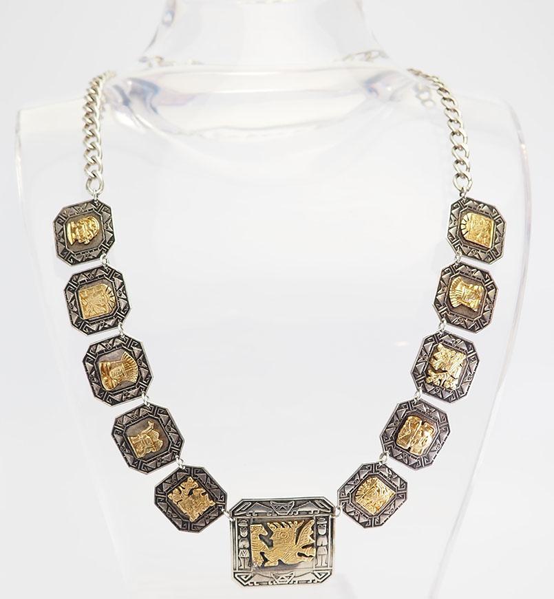 collier argent style ancien